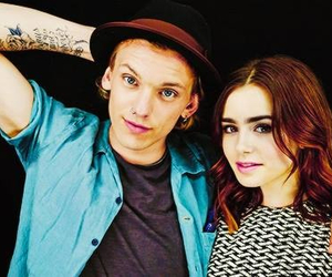 Jamie Campbell Bower, the mortal instruments, and lily collins image