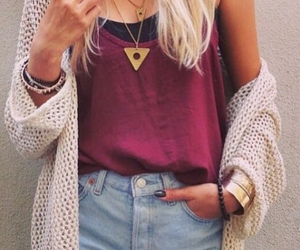 style, outfit, and cardigan image