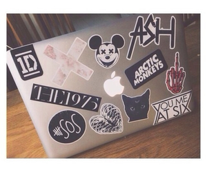 macbook and sticker image