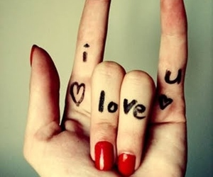 :), hand, and I Love You image