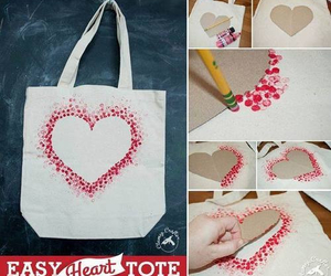 diy, heart, and bag image