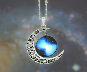 moon, necklace, and fashion image