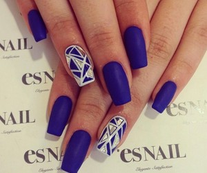 classy, nails, and navy blue image