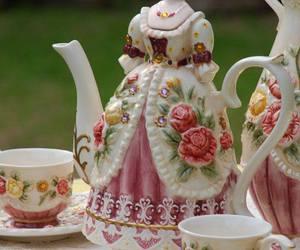 tea, dress, and vintage image