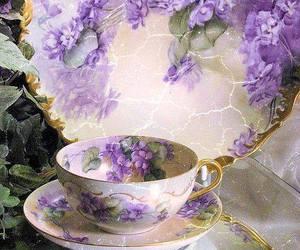 dish, purple, and vintage image