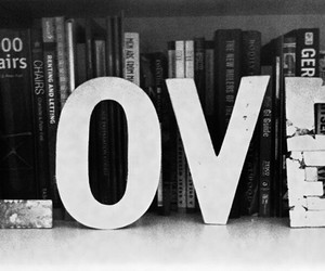 books, vintage, and love image