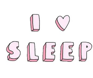 sleep, love, and pink image