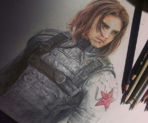 bucky, winter soldier, and hydra image