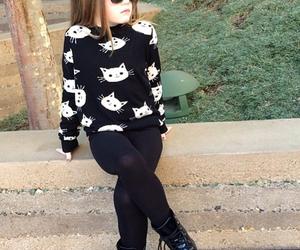kids, cat, and fashion image