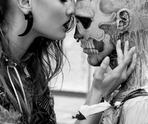 tattoo, black and white, and couple image