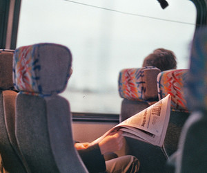 bus, travel, and vintage image