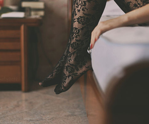 girl, vintage, and legs image