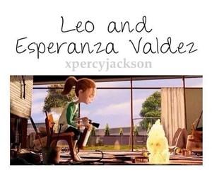leo valdez, percy jackson, and esperanza valdez image