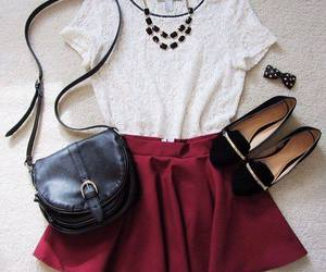 bag, fashion, and necklaces image