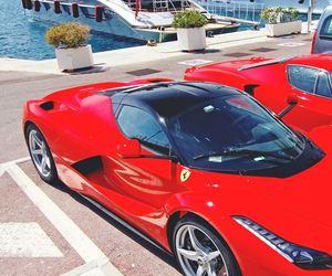 car, luxury, and ferrari image