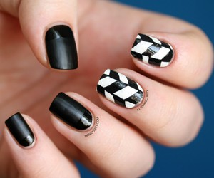 arts, nail, and black image
