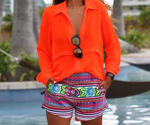 colorful, outfit, and sunglasses image