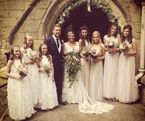 louis tomlinson, eleanor calder, and wedding image