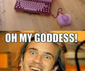 pewdiepie and funny image