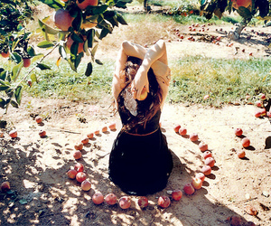 FRUiTS, girl, and orchard image