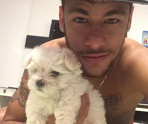 neymar, neymar jr, and dog image