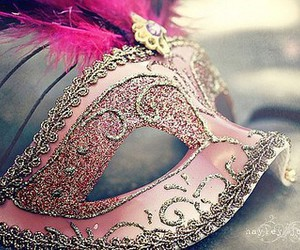 background, pink', and mask' image