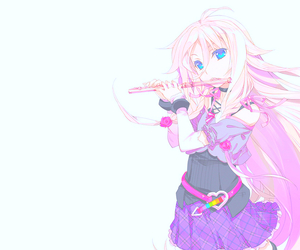 anime, flute, and girl image