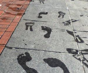 converse, footprints, and feet image