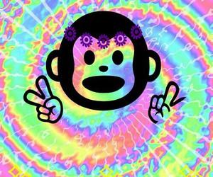 flowers and monkey image