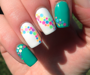 nail stickers, nail water decals, and nail design image