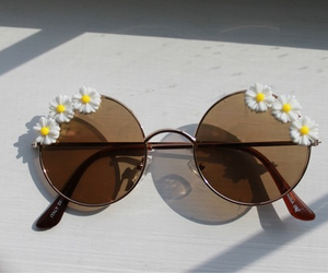 daisy, sunglasses, and fashion image