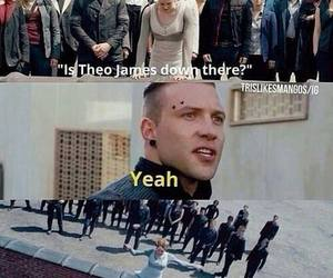 divergent, theo james, and funny image