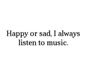 music, happy, and sad image