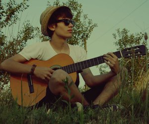 beutiful, boy, and guitar image