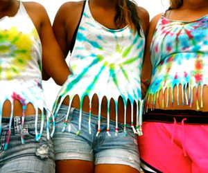 beads, tie dye, and warped tour image