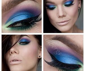 artist, blue, and eyelashes image