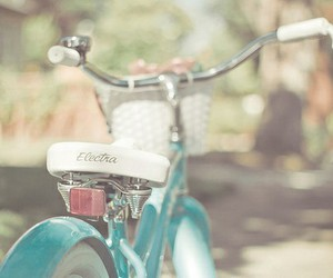 bike, blue, and vintage image
