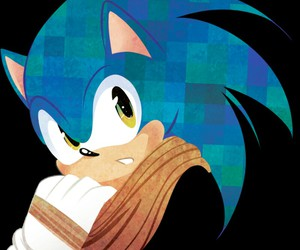 blue, scarf, and sonic image