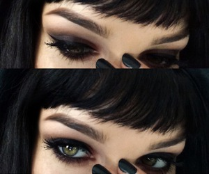 black, eyes, and makeup image