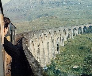train, bridge, and harry potter image