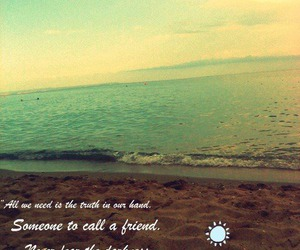 beach, quotes, and sea image
