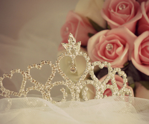 princess, rose, and crown image