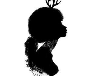 black, antlers, and drawing image