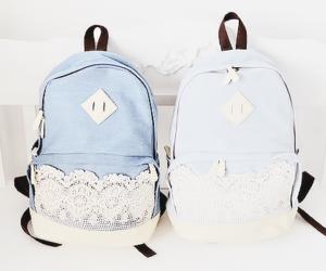 backpack, bag, and blue image