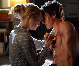 emma stone, spider man, and andrew garfield image