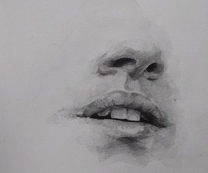 art, drawing, and mouth image