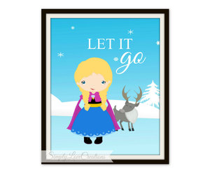 frozen, let it go, and wall art image