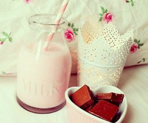 chocolate, milk, and food image