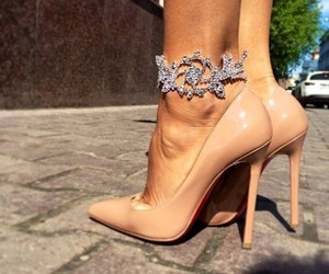 heels, shoes, and beige image