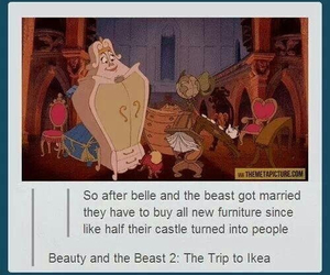 disney, beauty and the beast, and funny image